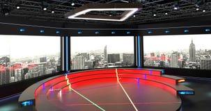 真正电视演播室闲谈设置了2 & x28; 背景7& x29; 免版税库存照片