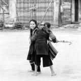 真正的人在越南,黑白的 免版税库存照片