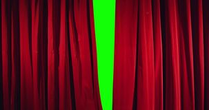 真正的剧院帷幕开头 免版税库存照片