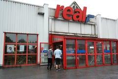 真正的大型超级市场在德国 图库摄影