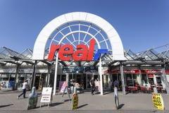 真正的大型超级市场在锡根,德国 免版税图库摄影