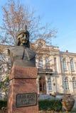 真正的德雷库拉雕塑-罗马尼亚统治者Vlad Tepes 库存图片