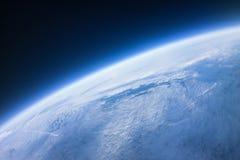 真正的照片-在空间摄影附近- 20km在地面上 免版税库存图片