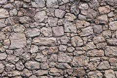 真正的石墙纹理 免版税库存照片