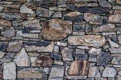 真正的石墙表面 库存图片