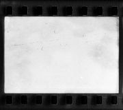 真正的胶卷画面以尘土和抓痕 免版税库存图片