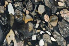 真正的自然花岗岩Marinace黑色金子纹理样式 ?? 免版税图库摄影