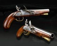 真正的英国燧发枪手枪 图库摄影