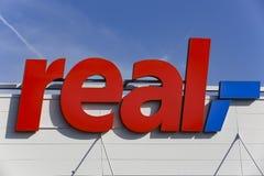 真正的超级市场商标 免版税库存图片