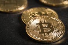 真正的bitcoin硬币 免版税图库摄影