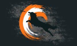 真正看的博德牧羊犬跳跃和传染性的盘剪影  免版税库存照片