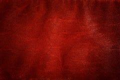 真正红色皮革背景,样式,纹理 免版税库存照片