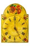 真正装饰17世纪时钟 免版税库存图片