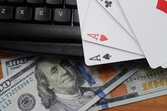 真正赌博娱乐场,真正的金钱 库存图片