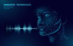 真正辅助语音识别服务技术企业概念 AI人工智能机器人帮助工作 向量例证