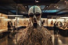 真正非洲面具特写镜头照片 免版税图库摄影