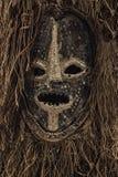 真正非洲面具特写镜头照片 免版税库存照片