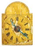 真正17世纪时钟 免版税库存图片