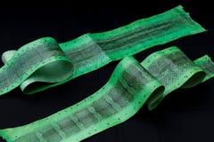 真正watersnake snakeskin皮革,蛇皮,纹理,动物,在黑背景的爬行动物 库存图片