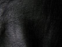 黑真皮关闭纹理  免版税库存照片