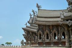 真相圣所在芭达亚泰国 库存图片