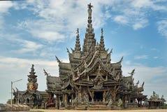 真相圣所在芭达亚泰国 免版税图库摄影