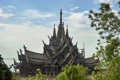 真相圣所在芭达亚泰国 免版税库存照片