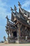 真相圣所在芭达亚泰国 免版税库存图片