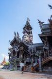 真相圣所在芭达亚,泰国 免版税库存照片