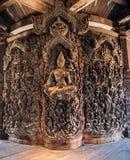 真相圣所在芭达亚,泰国 库存照片