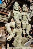 真相寺庙的片段在芭达亚 库存照片
