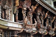 真相泰国圣所  免版税库存图片