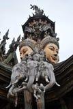 真相泰国圣所  免版税库存照片