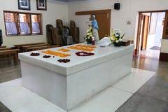 真福加尔各答的德肋撒坟茔在加尔各答 免版税库存照片