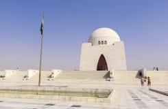 真纳陵墓在卡拉奇,巴基斯坦 免版税库存图片