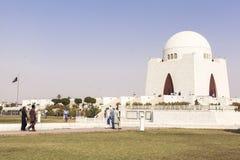 真纳陵墓在卡拉奇,巴基斯坦 图库摄影