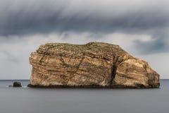 真菌岩石,在Gozo海岸,马耳他 免版税库存图片