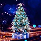 眨眼睛抽象背景的圣诞节假日 圣诞节我的投资组合结构树向量版本 免版税图库摄影