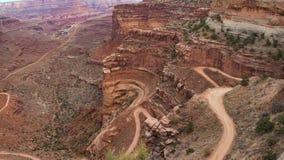 眩晕的高度Shafer峡谷 库存图片