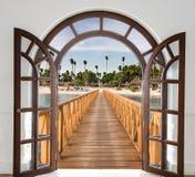 眺望台加勒比的门户开放主义的看法 图库摄影