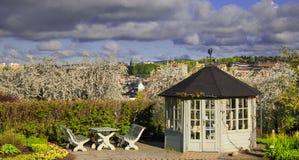 眺望台在植物园里 绿色 公园 室外 库存照片