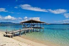 眺望台在Kenawa海岛 免版税库存图片
