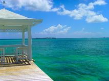 眺望台海岛热带的拿骚 免版税图库摄影