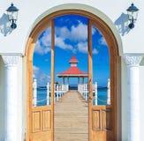 眺望台的门户开放主义的看法 库存照片