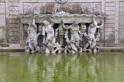 眺望楼喷泉宫殿维也纳 免版税库存照片