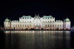 眺望楼圣诞节市场宫殿维也纳 免版税库存照片
