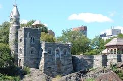 眺望楼城堡中心城市新的公园约克 免版税库存图片