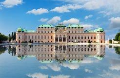 眺望楼宫殿在维也纳 库存图片