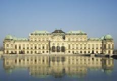 眺望楼宫殿较大维也纳 免版税库存照片