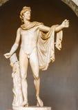 眺望楼阿波罗-雕象在梵蒂冈博物馆 免版税库存照片